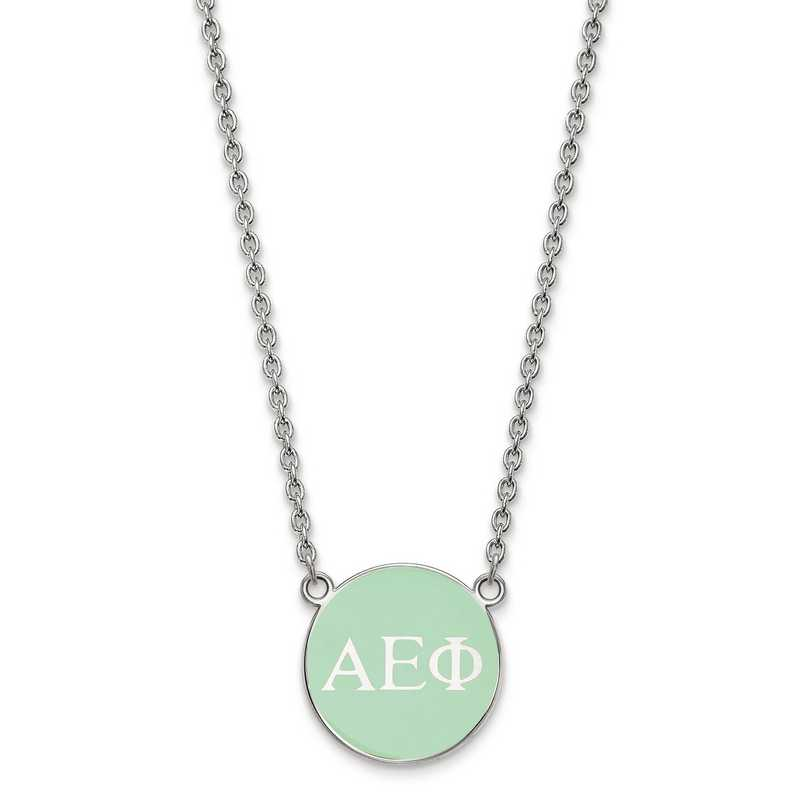 SS030AEP-18: SS LogoArt Alpha Epsilon Phi Small Enl Pend w/Necklace