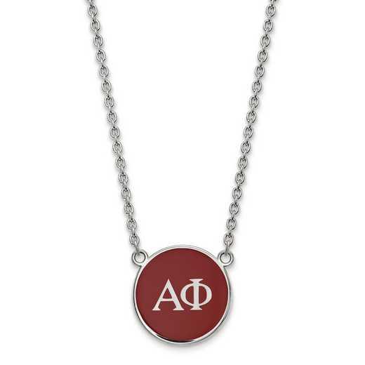 SS030APH-18: SS LogoArt Alpha Phi Large Enl Pend w/Necklace