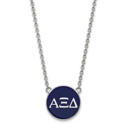SS030AXD-18: SS LogoArt Alpha Xi Delta Large Enl Pend w/Necklace