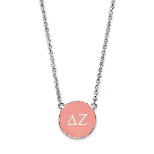SS030DZ-18: SS LogoArt Delta Zeta Large Enl Pend w/Necklace
