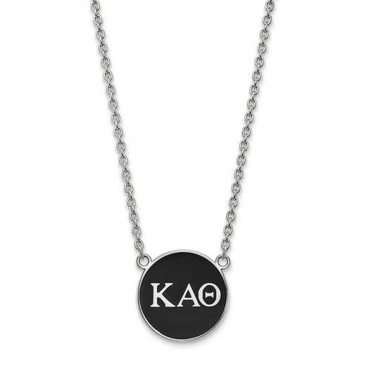 SS030KAT-18: SS LogoArt Kappa Alpha Theta Large Enl Pend w/Necklace