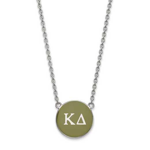 SS030KD-18: SS LogoArt Kappa Delta Large Enl Pend w/Necklace