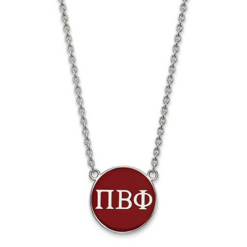 SS030PBP-18: SS LogoArt Pi Beta Phi Large Enl Pend w/Necklace