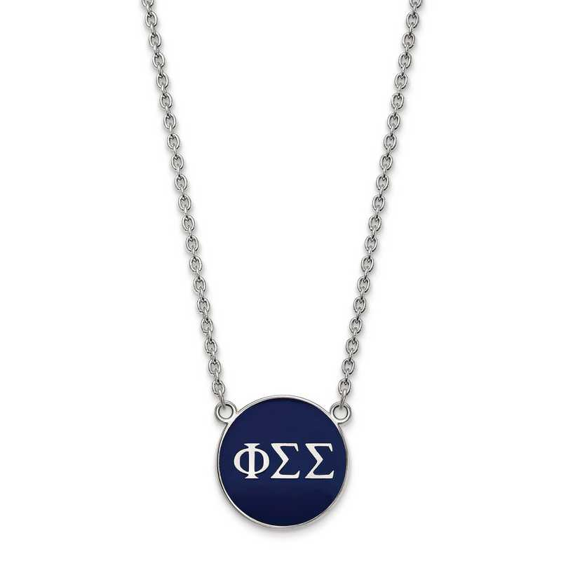 SS030PSS-18: SS LogoArt Phi Sigma Sigma Large Enl Pend w/Necklace