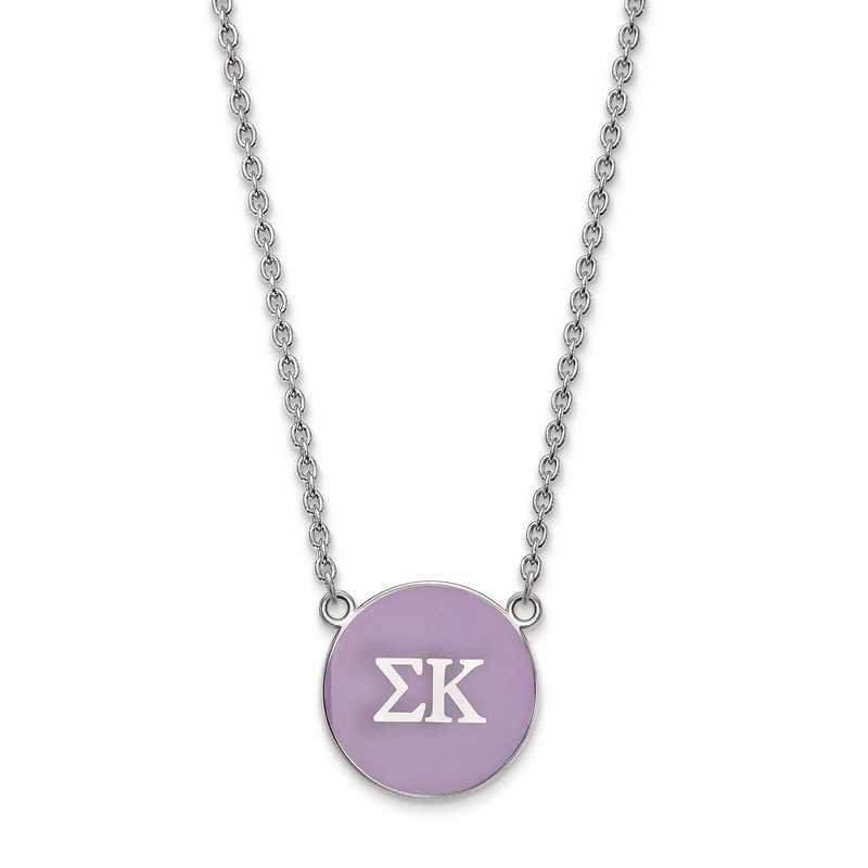 SS030SKP-18: SS LogoArt Sigma Kappa Large Enl Pend w/Necklace