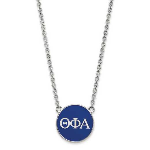 SS030TPA-18: SS LogoArt Theta Phi Alpha Large Enl Pend w/Necklace