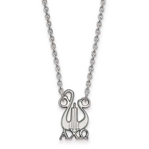 SS039ACO-18: SS LogoArt Alpha Chi Omega Small Pend w/Necklace