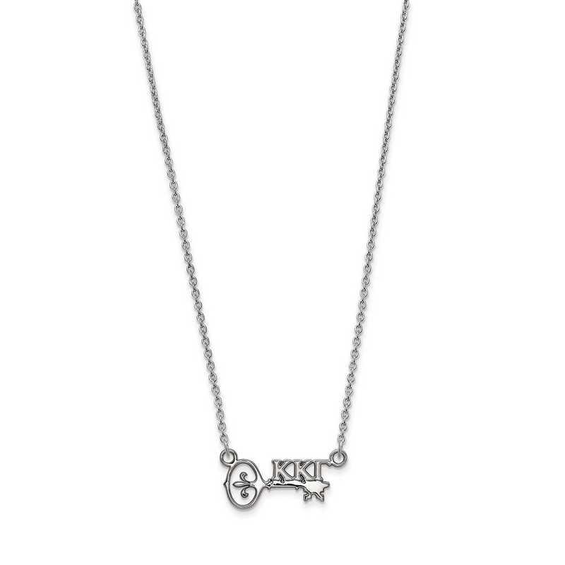 SS039KKG-18: SS LogoArt Kappa Kappa Gamma XS Pend w/Necklace