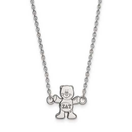 SS039SDT-18: SS LogoArt Sigma Delta Tau XS Pend w/Necklace