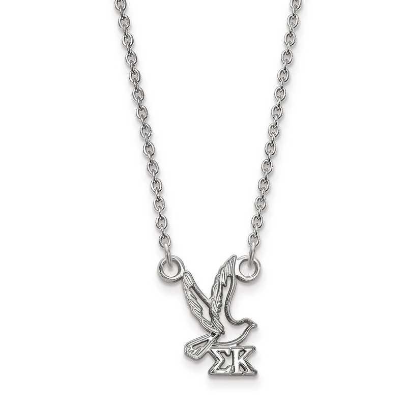 SS039SKP-18: SS LogoArt Sigma Kappa XS Pend w/Necklace