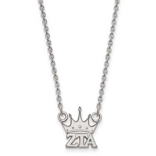 SS039ZTA-18: SS LogoArt Zeta Tau Alpha XS Pend w/Necklace