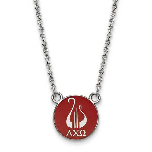 SS042ACO-18: SS LogoArt Alpha Chi Omega Small Enl Pend w/Necklace