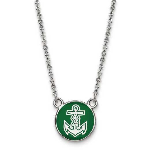 SS042ALS-18: SS LogoArt Alpha Sigma Tau Sm Enl Pend w/Necklace