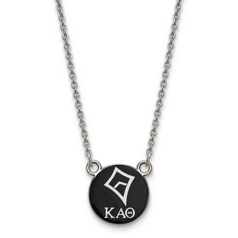 SS042KAT-18: SS LogoArt Kappa Alpha Theta Sm Enl Pend w/Necklace