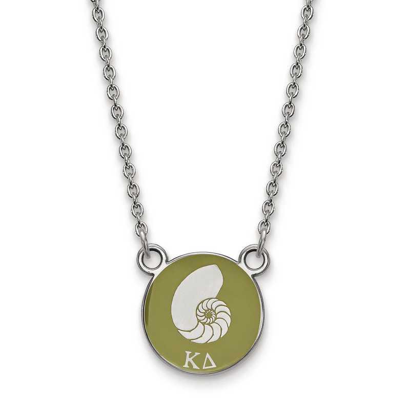 SS042KD-18: SS LogoArt Kappa Delta Sm Enl Pend w/Necklace