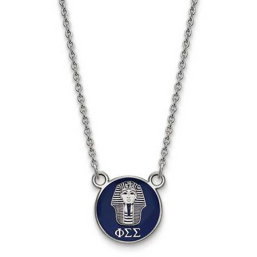 SS042PSS-18: SS LogoArt Phi Sigma Sigma Sm Enl Pend w/Necklace