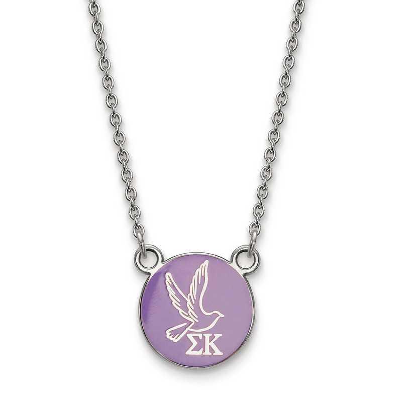 SS042SKP-18: SS LogoArt Sigma Kappa Sm Enl Pend w/Necklace