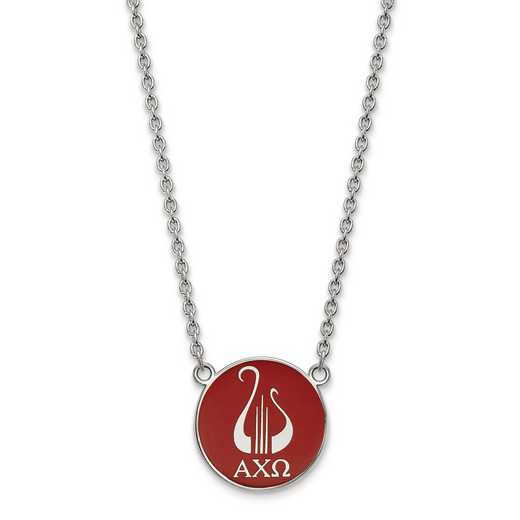 SS043ACO-18: SS LogoArt Alpha Chi Omega Large Enl Pend w/Necklace