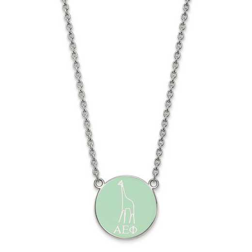 SS043AEP-18: SS LogoArt Alpha Epsilon Phi Small Enl Pend w/Necklace