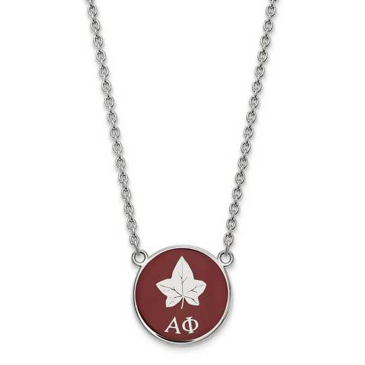 SS043APH-18: SS LogoArt Alpha Phi Small Enl Pend w/Necklace