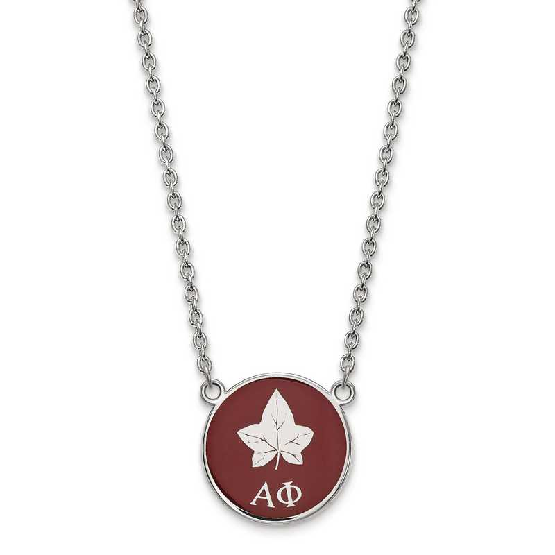 SS043APH-18: SS LogoArt Alpha Phi Small Enl Pend w/Necklace