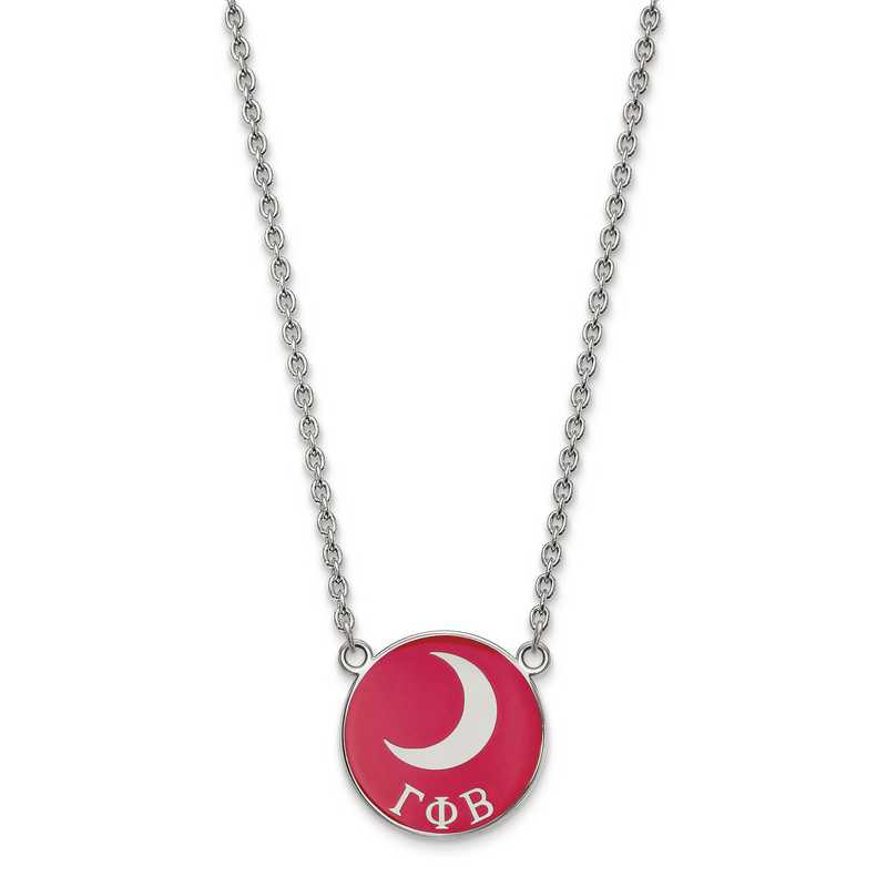 SS043GPB-18: SS LogoArt Gamma Phi Beta Large Enl Pend w/Necklace