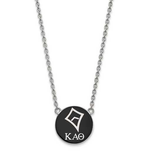 SS043KAT-18: SS LogoArt Kappa Alpha Theta Large Enl Pend w/Necklace
