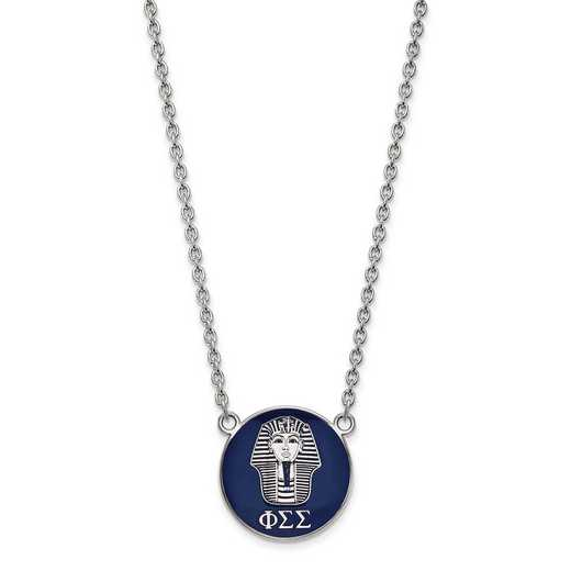 SS043PSS-18: SS LogoArt Phi Sigma Sigma Large Enl Pend w/Necklace
