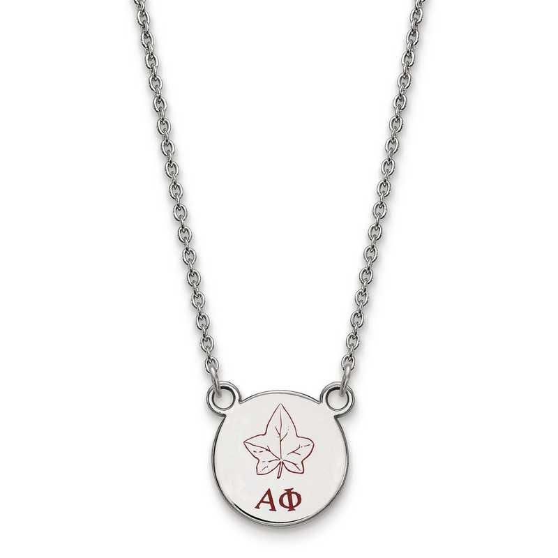 SS044APH-18: SS LogoArt Alpha Phi Sm Enl Pend w/Necklace