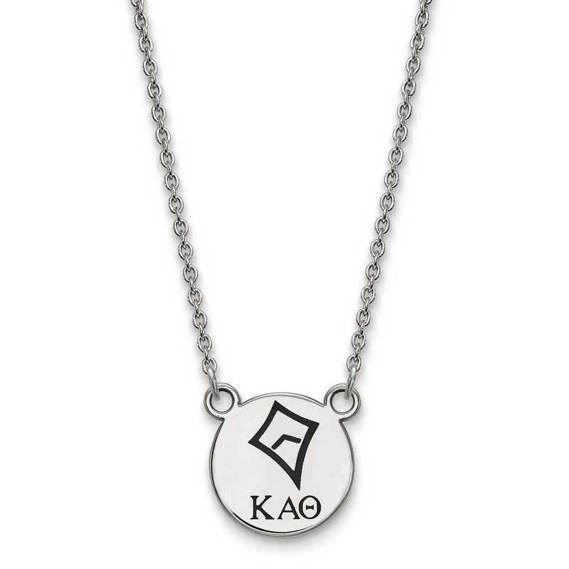 SS044KAT-18: SS LogoArt Kappa Alpha Theta Sm Enl Pend w/Necklace