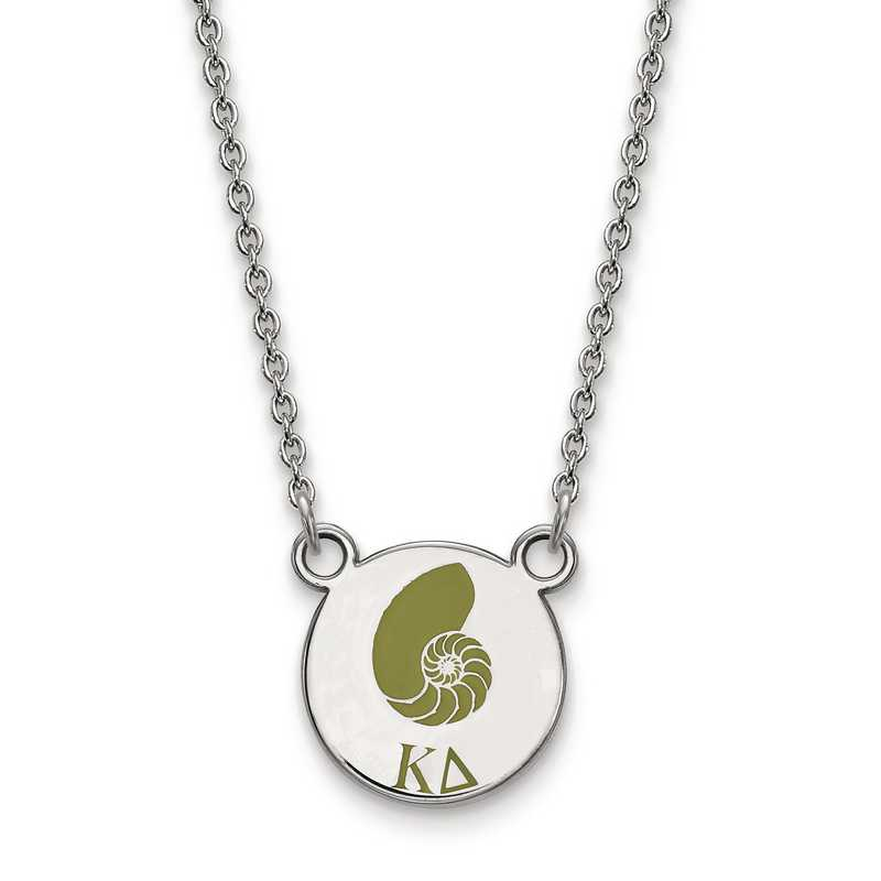 SS044KD-18: SS LogoArt Kappa Delta Sm Enl Pend w/Necklace