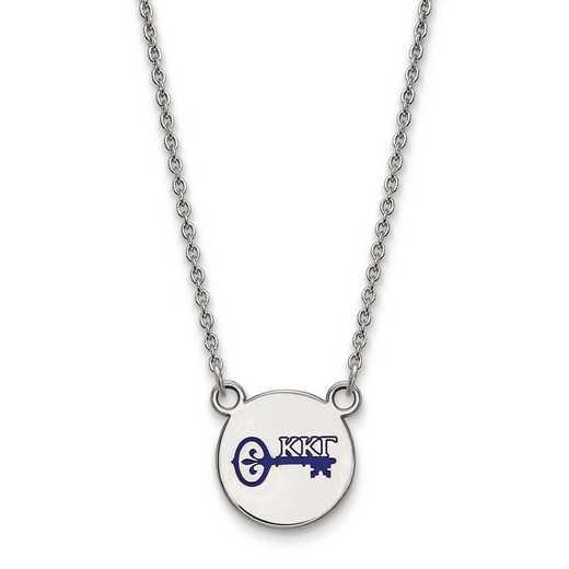 SS044KKG-18: SS LogoArt Kappa Kappa Gamma Sm Enl Pend w/Necklace