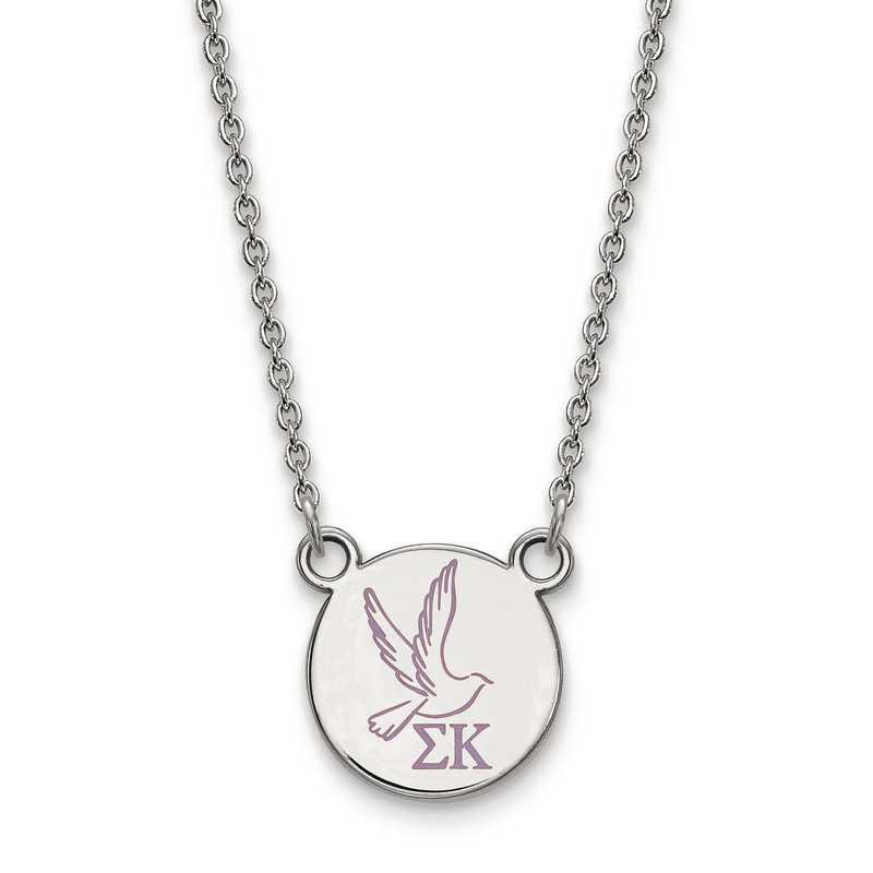 SS044SKP-18: SS LogoArt Sigma Kappa Sm Enl Pend w/Necklace