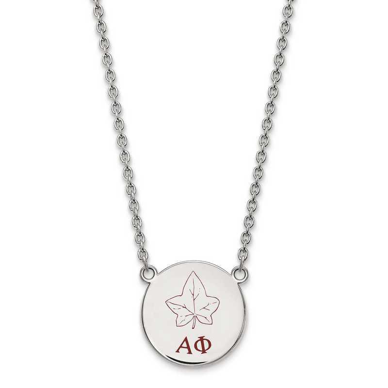 SS045APH-18: SS LogoArt Alpha Phi Large Enl Pend w/Necklace
