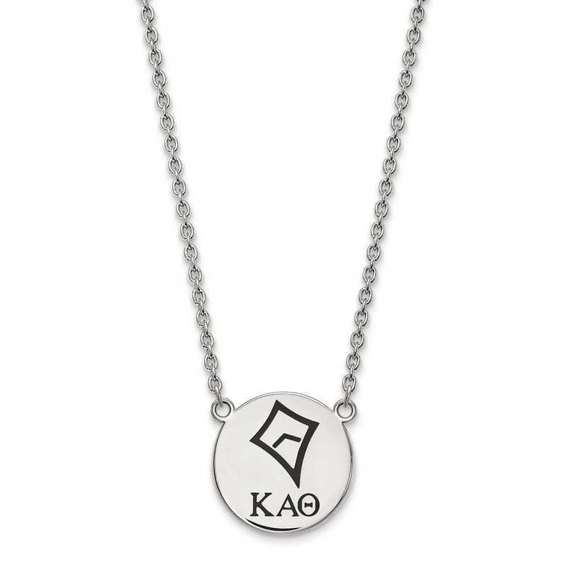 SS045KAT-18: SS LogoArt Kappa Alpha Theta Large Enl Pend w/Necklace
