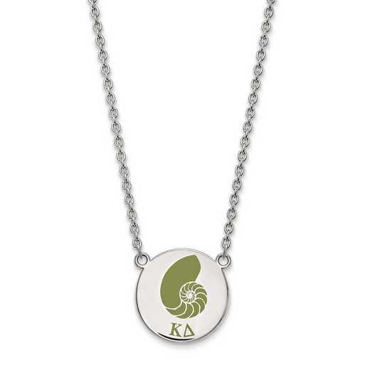 SS045KD-18: SS LogoArt Kappa Delta Large Enl Pend w/Necklace