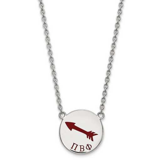 SS045PBP-18: SS LogoArt Pi Beta Phi Large Enl Pend w/Necklace
