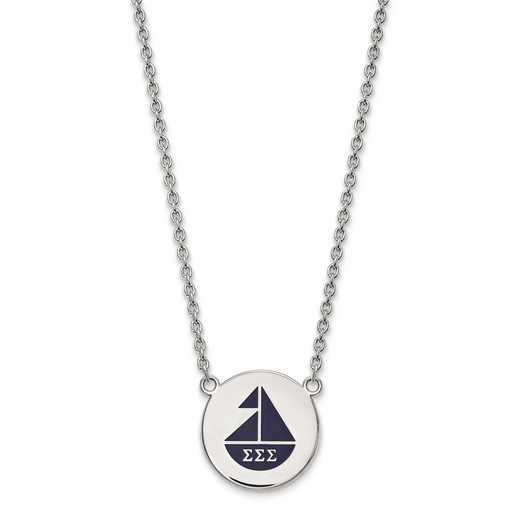 SS045SSS-18: SS LogoArt Sigma Sigma Sigma Large Enl Pend w/Necklace