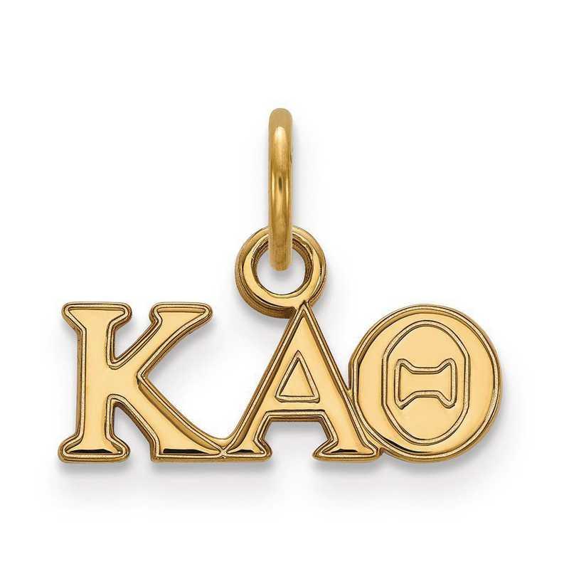 GP001KAT: Sterling Silver w/GP LogoArt Kappa Alpha Theta XS Pendant