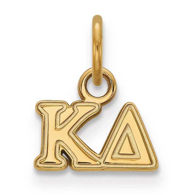 GP001KD: Sterling Silver w/GP LogoArt Kappa Delta XS Pendant