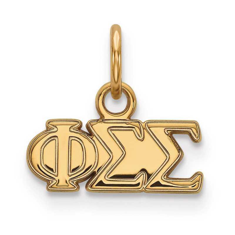 GP001PSS: Sterling Silver w/GP LogoArt Phi Sigma Sigma XS Pendant
