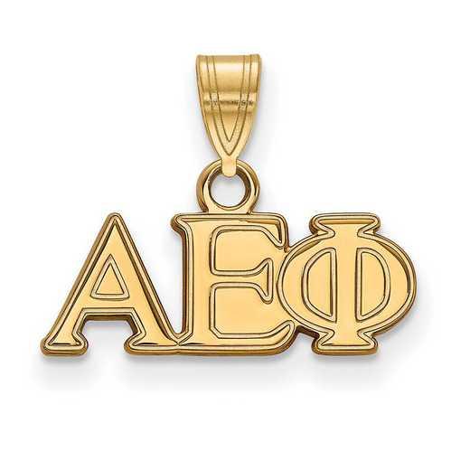 GP002AEP: Sterling Silver w/GP LogoArt Alpha Epsilon Phi Small Pendant