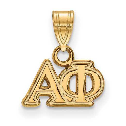 GP002APH: Sterling Silver w/GP LogoArt Alpha Phi Small Pendant