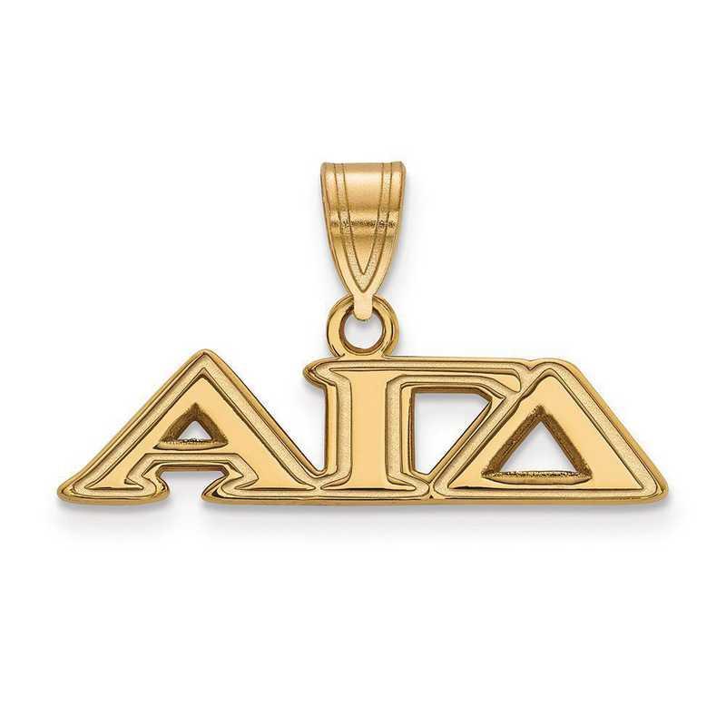 GP003AGD: SterlingSilver w/GP LogoArt Alpha Gamma Delta Medium Pendant