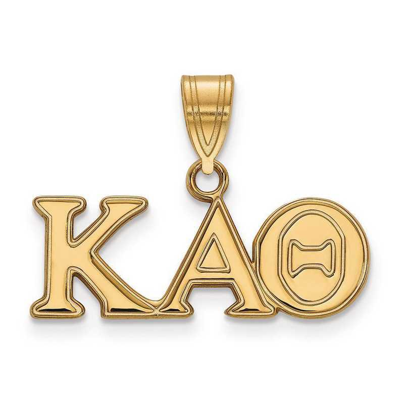 GP003KAT: SterlingSilver w/GP LogoArt Kappa Alpha Theta Medium Pendant