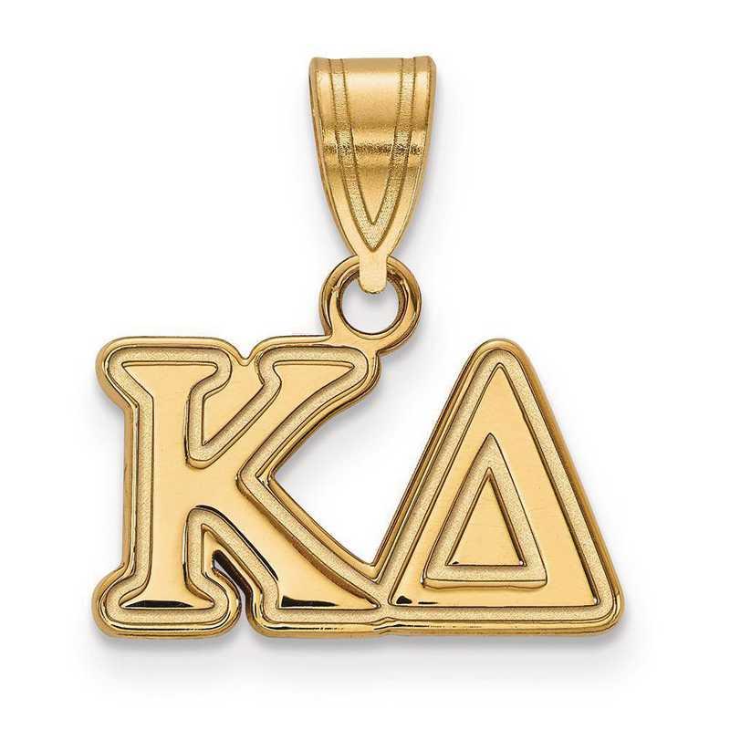 GP003KD: Sterling Silver w/GP LogoArt Kappa Delta Medium Pendant