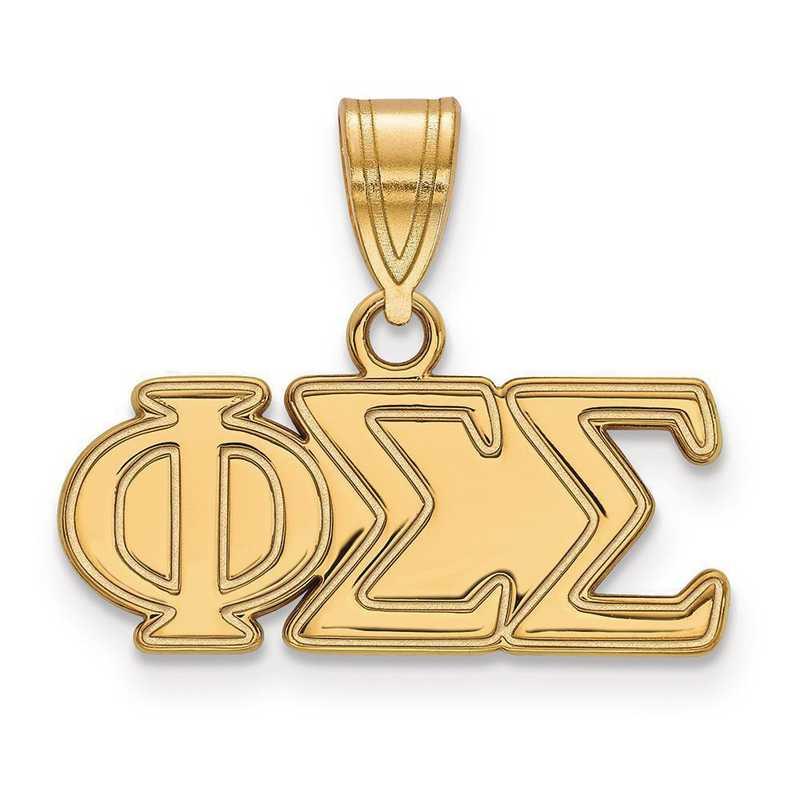 GP003PSS: Sterling Silver w/GP LogoArt Phi Sigma Sigma Medium Pendant