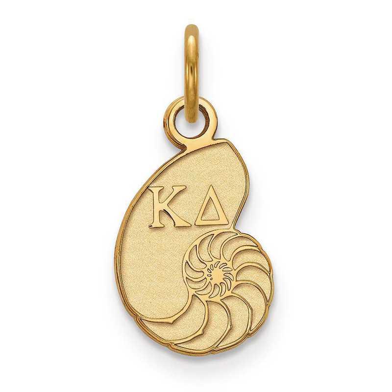 GP034KD: Sterling Silver w/GP LogoArt Kappa Delta XS Pendant