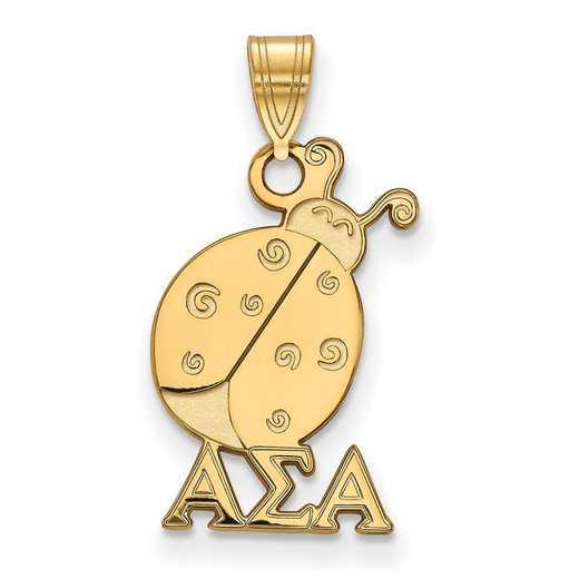 GP035ASI: Sterling Silver w/GP LogoArt Alpha Sigma Alpha Small Pendant