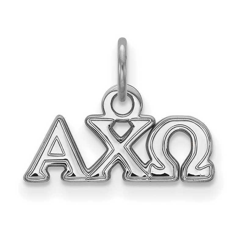 SS001ACO: Sterling Silver LogoArt Alpha Chi Omega XS Pendant